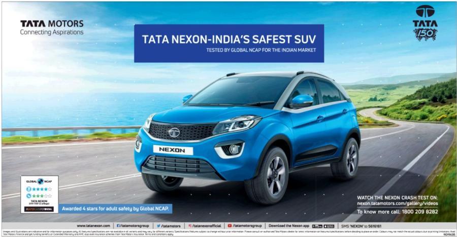 Nexon Tata Crash Test Featured