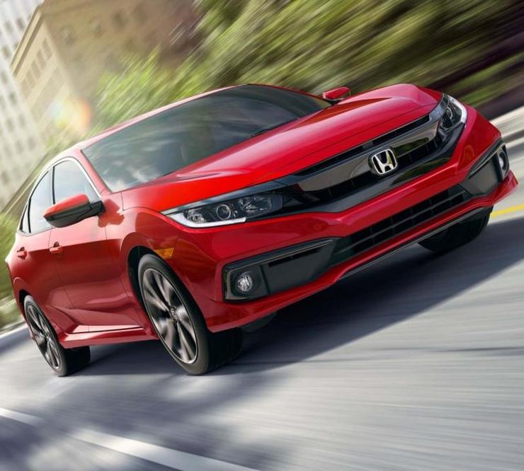 2019 Honda Civic Red 1