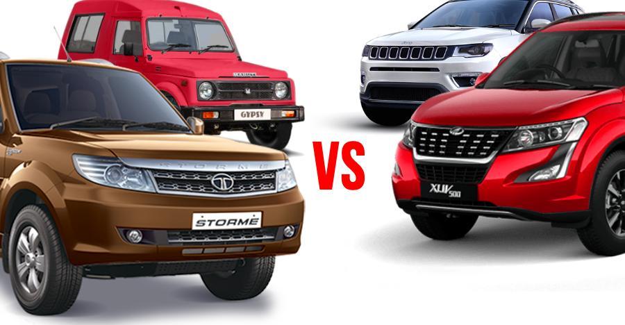 मुकाबला 4WD (Maruti Gypsy, Tata Safari Storme) और AWD (Mahindra XUV500, Jeep Compass) SUVs के बीच: कौन क्या खरीदे!