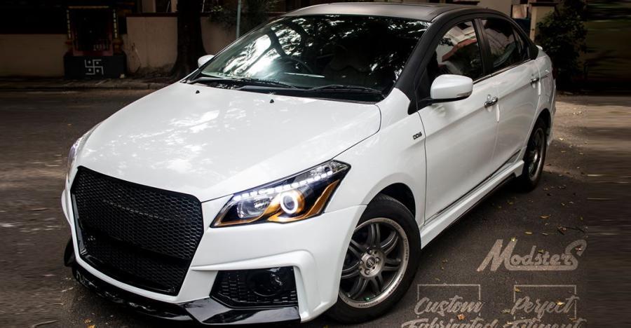 Modsters द्वारा बनायी गयी यह 'सुनहरी आँखों' वाली Maruti Ciaz दिखती है Audi जैसी
