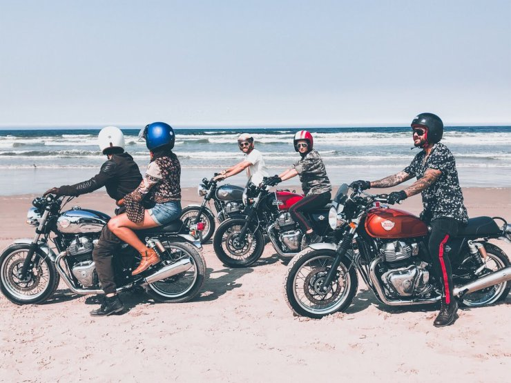 Royal Enfield Twins Beach 4