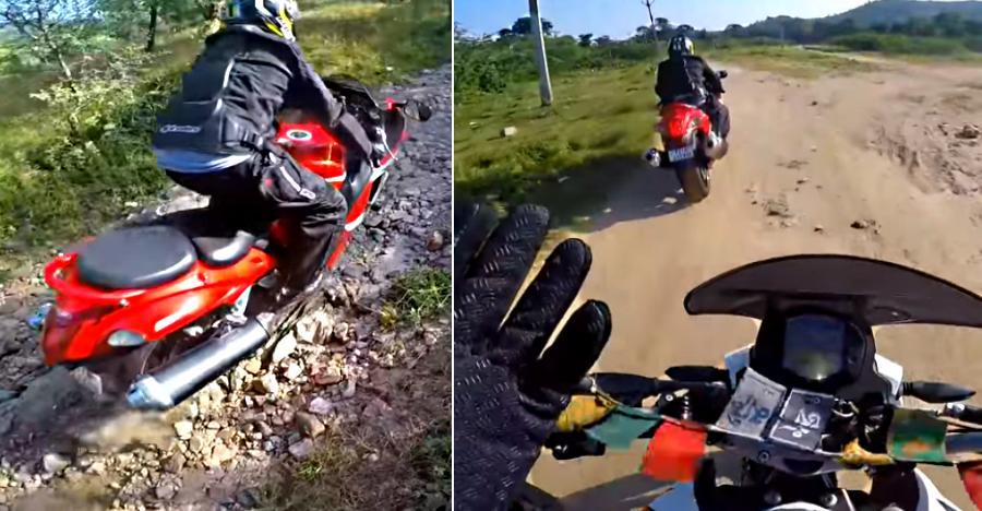 Suzuki Hayabusa राइडर दर्शाता है की सुपरबाइक को ऑफ-रोडिंग ले जाने पर क्या हश्र होता है…[विडियो]