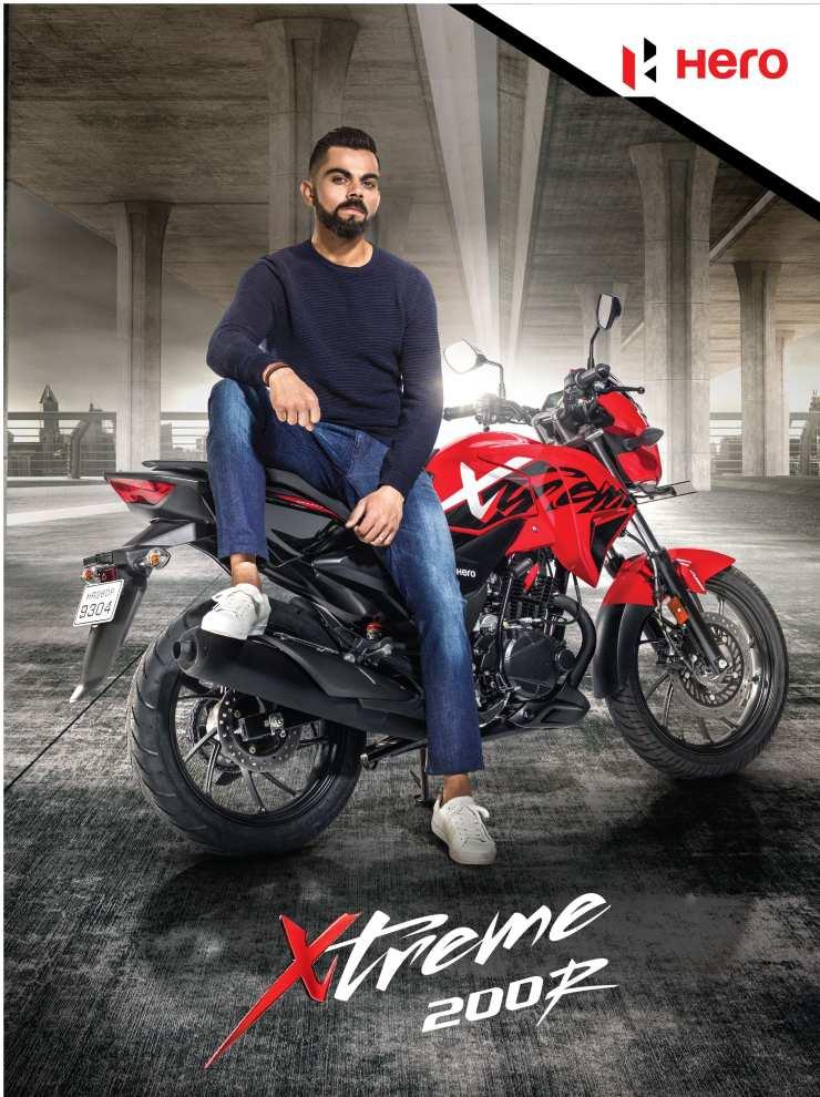 Virat Kohli Brand Ambassador Hero Motocorp Ltd. Xtreme 200r