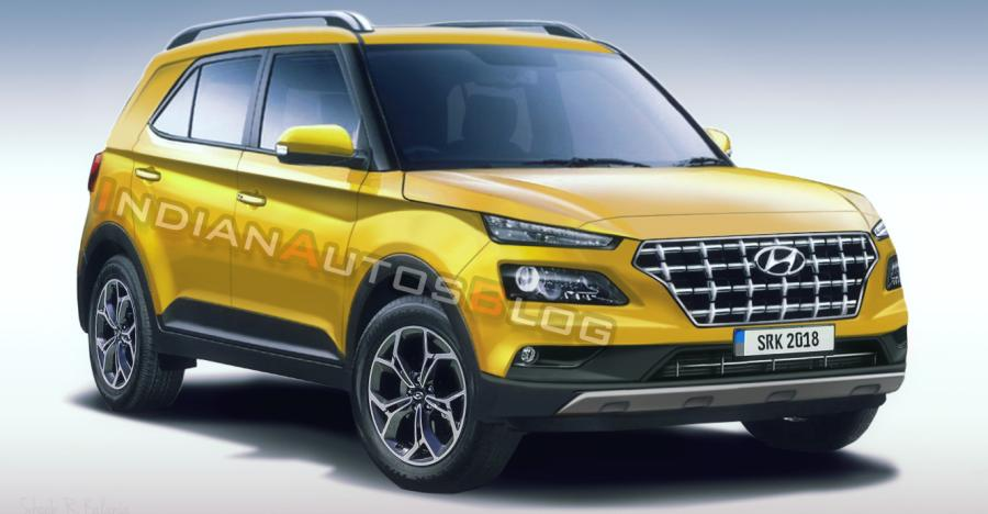 2019 Hyundai Styx Compact Suv Render Yellow Featured