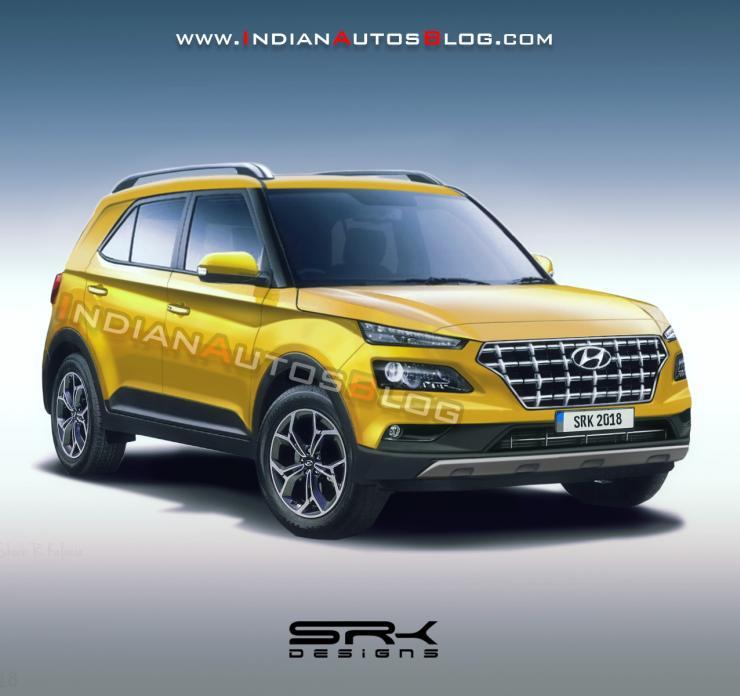 2019 Hyundai Styx Compact Suv Render Yellow