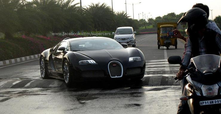 Bugatti Veyron Struggling To Cross Speed Breaker In India