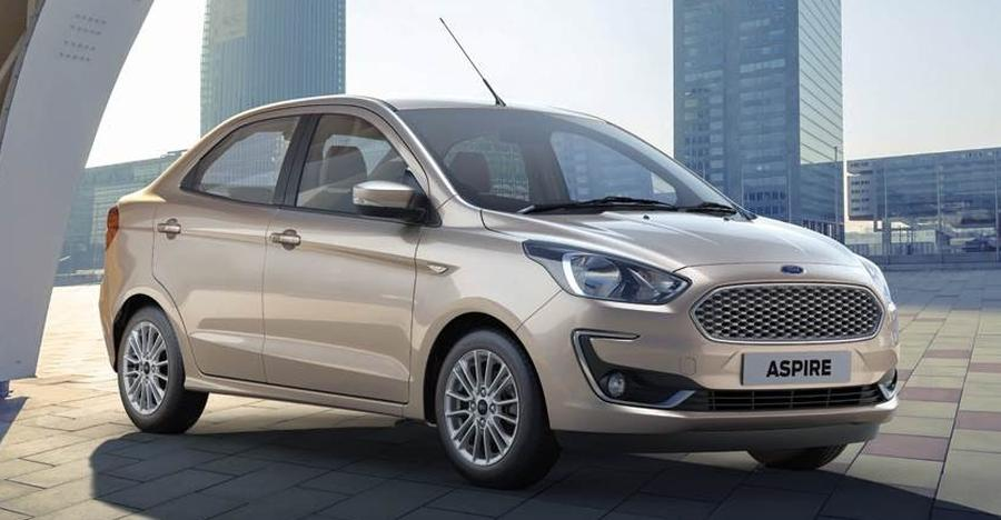 Ford Figo Aspire Facelift Studio Shot Featured