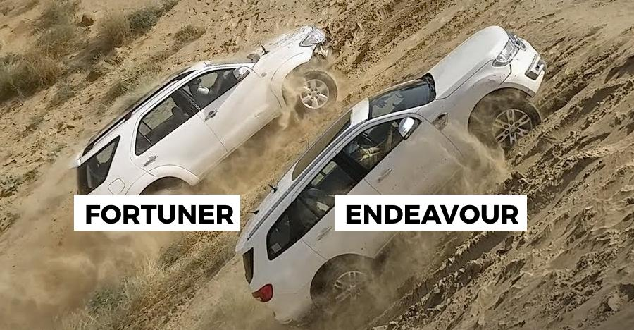 Toyota Fortuner, Ford Endeavour, और Isuzu V-Cross ने की रेत के पहाड़ की चढ़ाई: देखिये कौन बना विजेता
