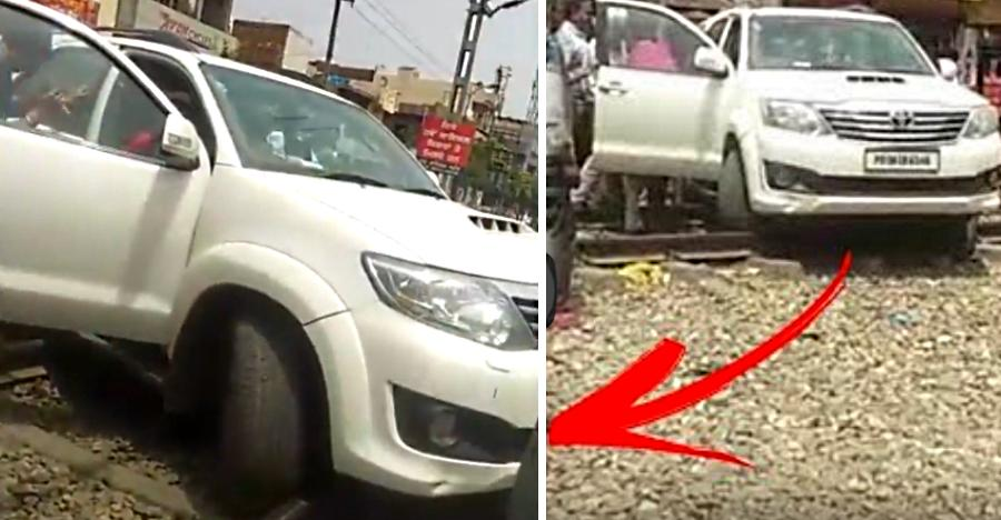Fortuner Stuck Railway Track Featured