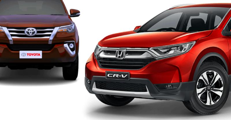 Honda Cr V Toyota Fortuner India Launchfeatured