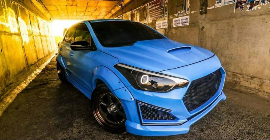 Hyundai Elite I20 Blue Hulkfeatured