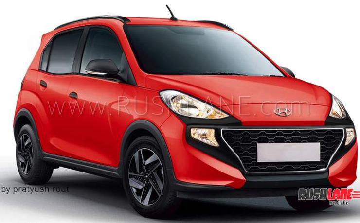 Hyundai Santro Cross Render