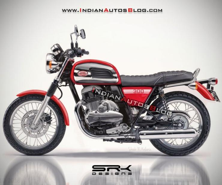 Jawa 300cc Roadster India Render