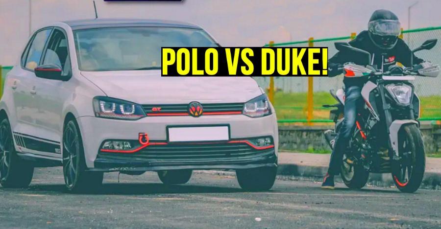 Ktm Duke 250 Vs Volkswagen Polo Gt Tsi Featured