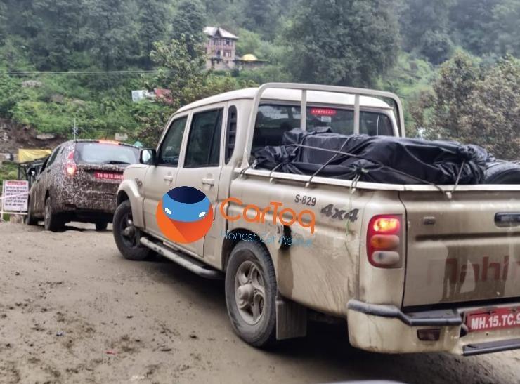 Mahindra Scorpio Getaway Pick Up Truck Spyshot