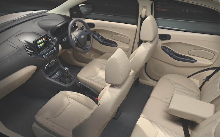 New 2018 Ford Aspire Interiors