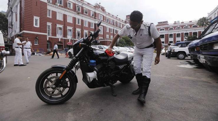 Police Harley Davidson Kolkata