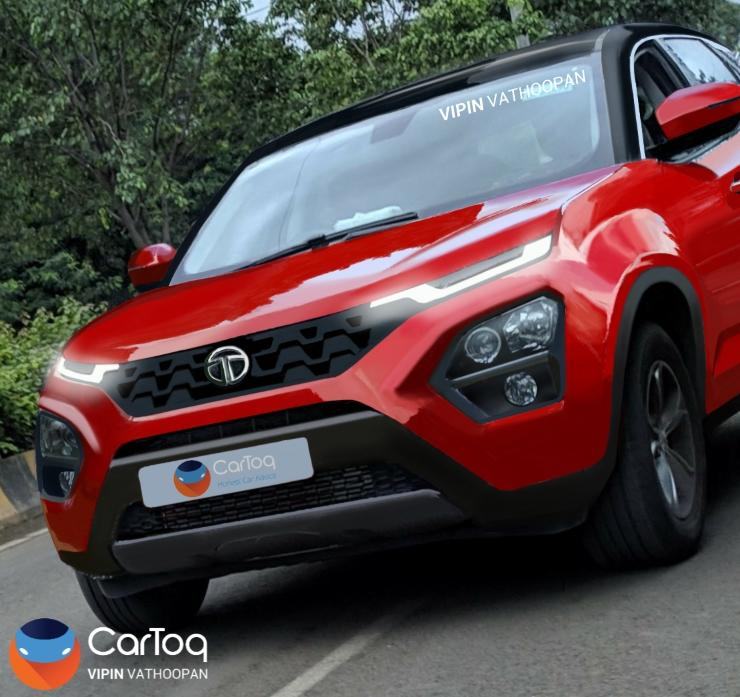 Tata Harrier Front Render