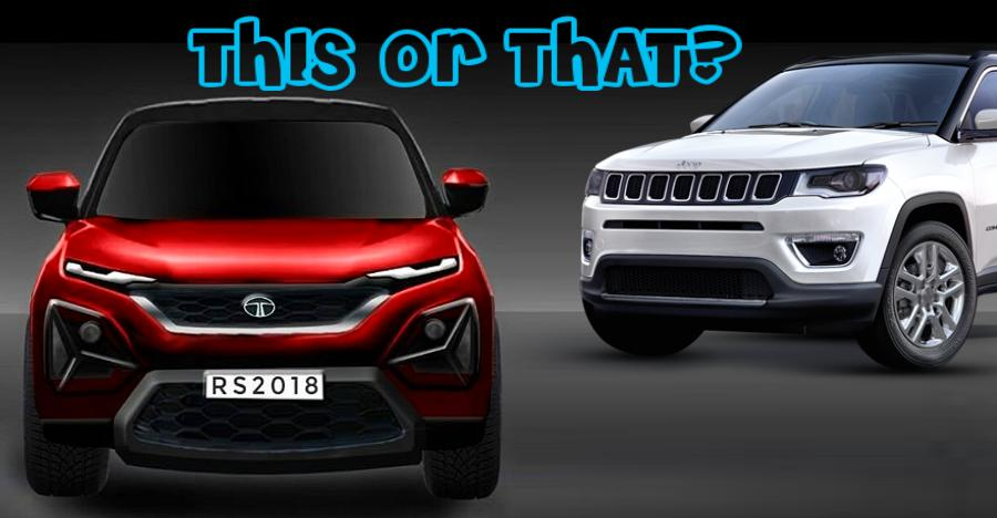 Tata Harrier Jeep Compass Featured