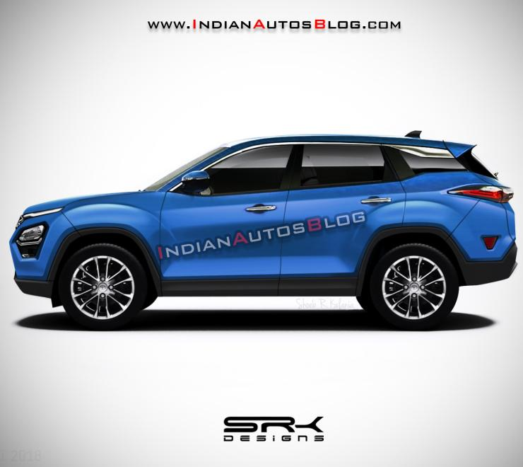 Tata Harrier Render Blue