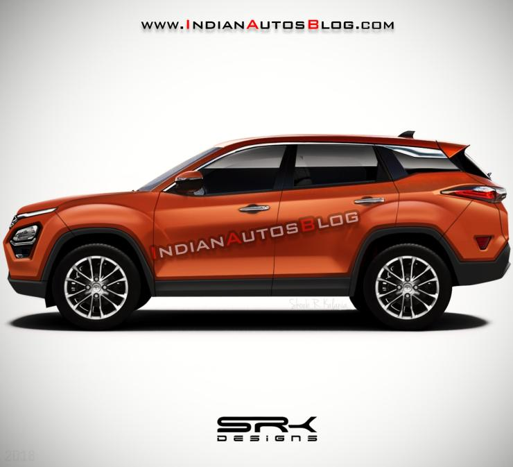 Tata Harrier Render Orange