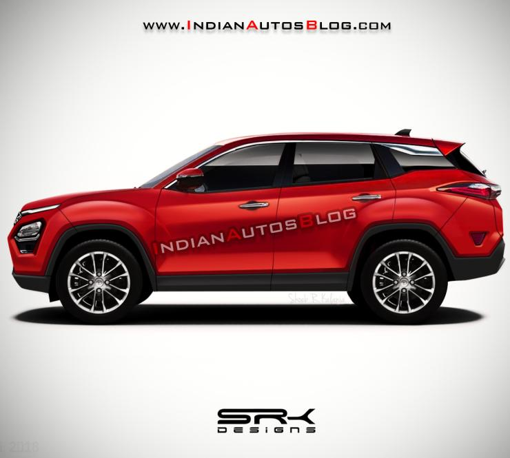 Tata Harrier Render Red