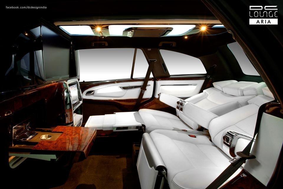 Dc Lounge Tata Aria Interior Rear Seat