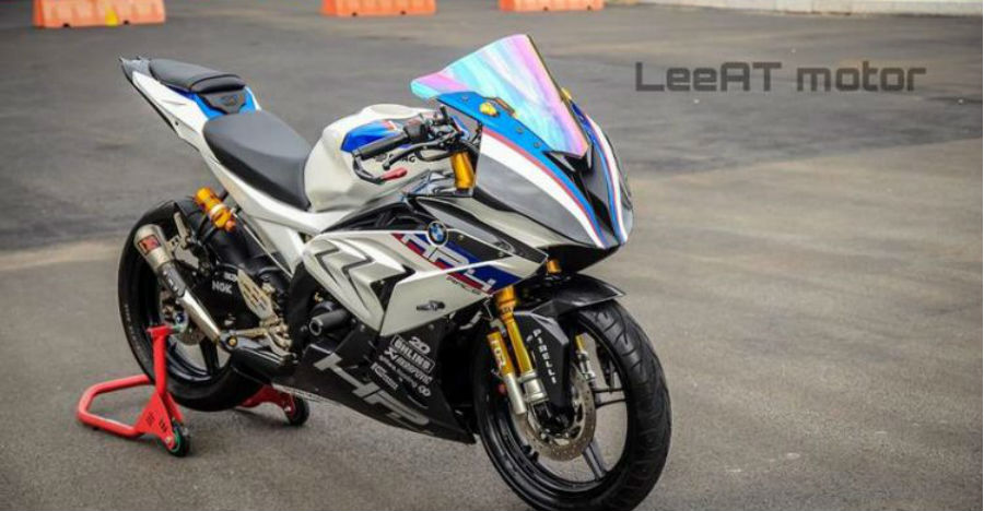 Yamaha R15 Modified To Bmw Hp4 Race Feature
