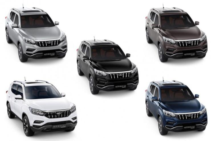 Mahindra Alturas G4 Different Colours