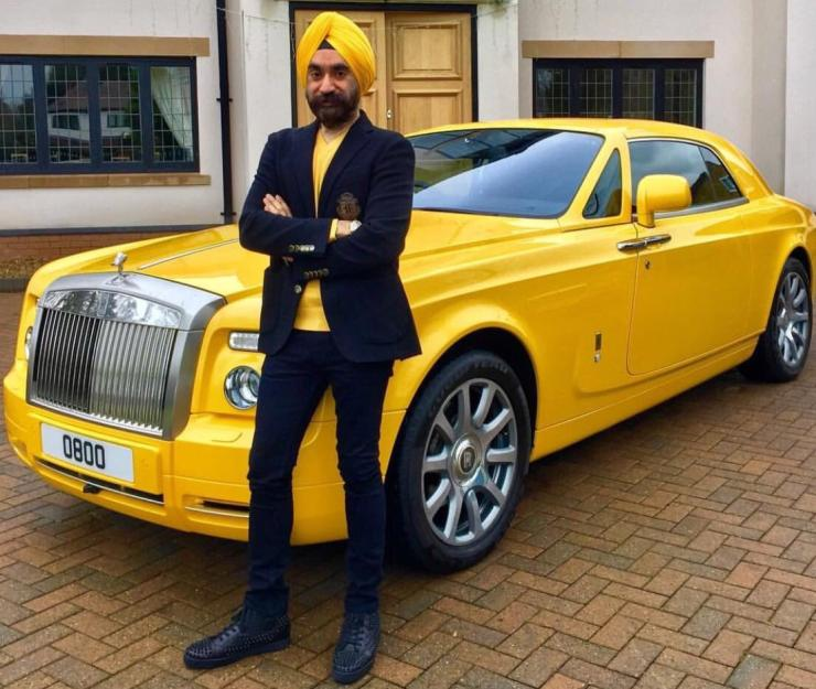 Reuben Singh With His Rolls Royce 1