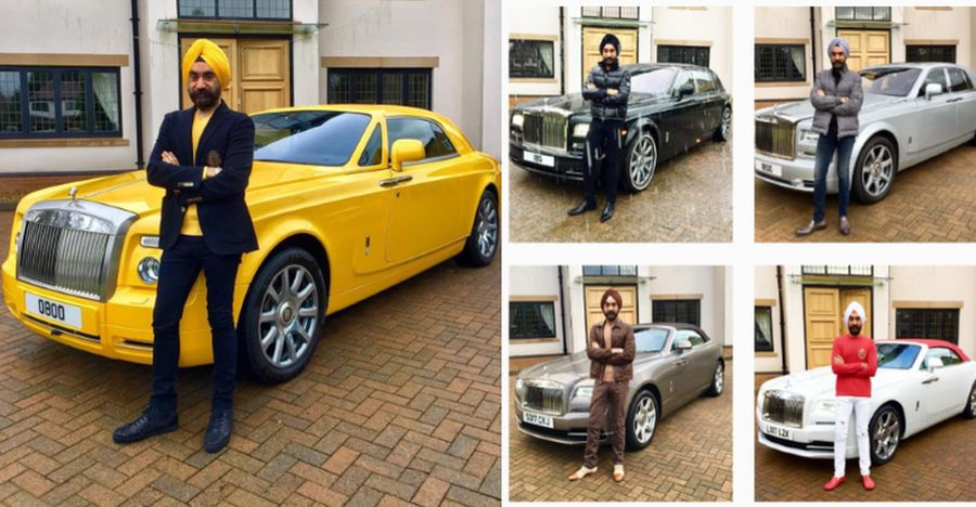 Reuben Singh With His Rolls Royce Featured