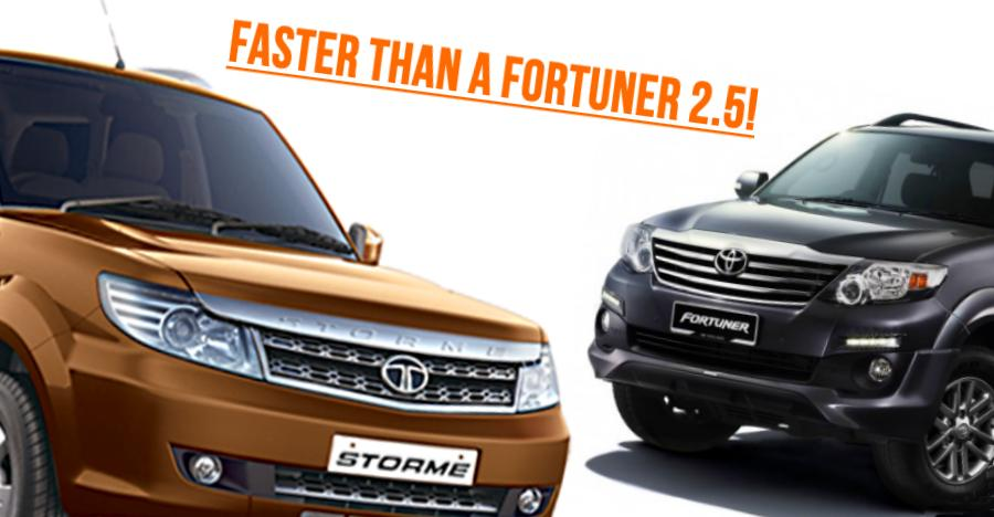 Safari Storme Faster Than A Fortuner