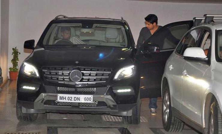 Siddharth Malhotra Mercedes Benz
