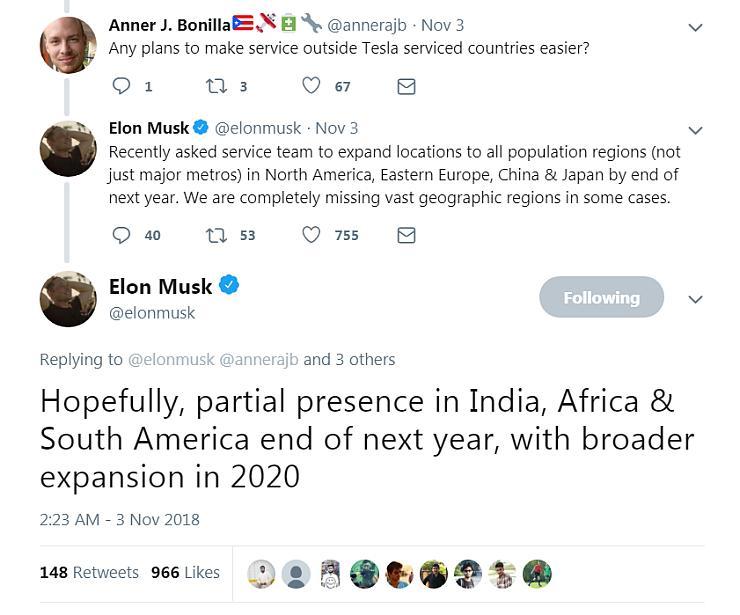 Tesla Elon Musk India Plans
