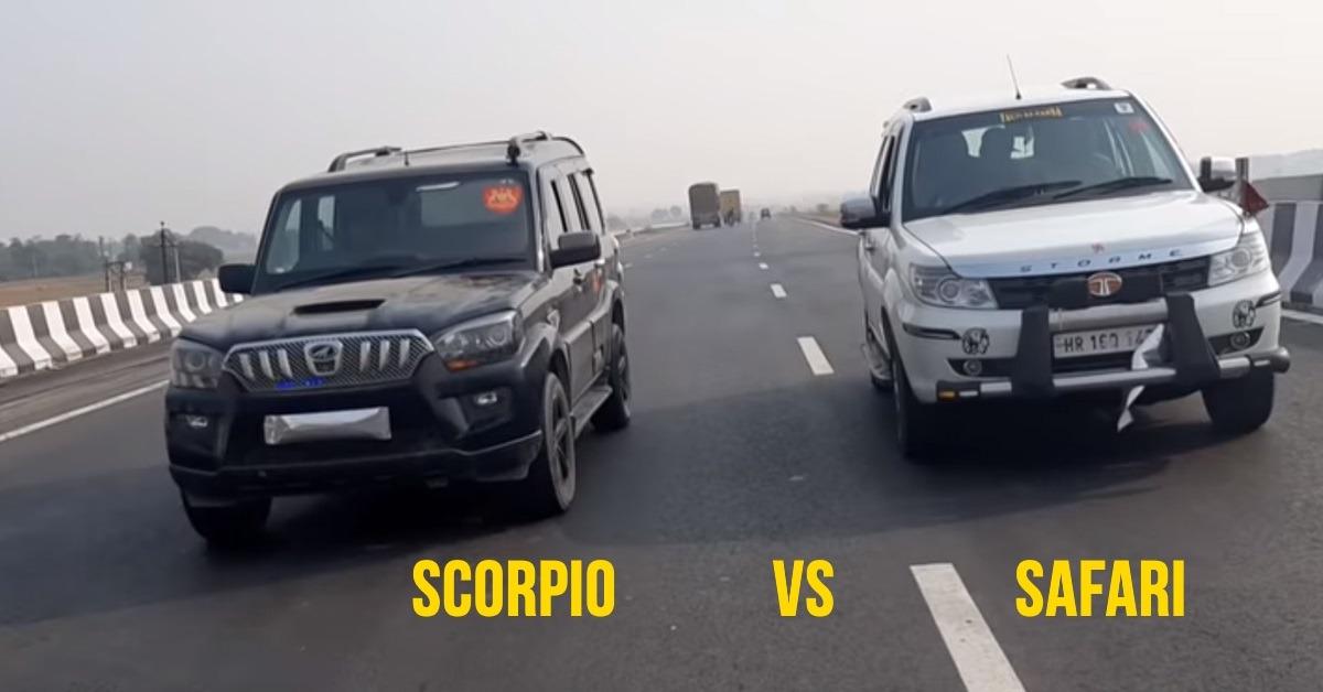 Mahindra Scorpio और Tata Safari के बीच मुकाबले में कौन बना विजेता: देखें वीडियो