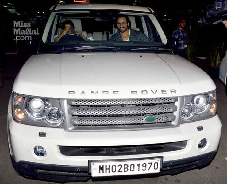 Saif Ali Khan Range Rover