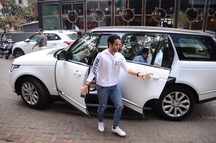 Tushar Kapoor Range Rover
