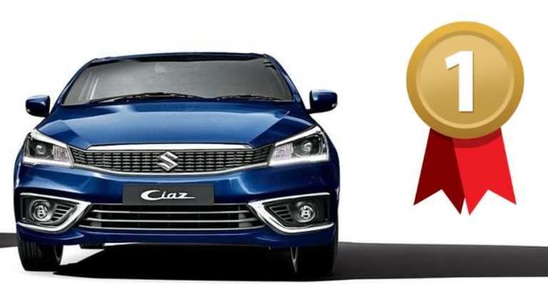 Maruti Ciaz ने बिक्री के मामले में Honda City को पछाड़ा, Toyota Yaris रही पांचवे स्थान पर!
