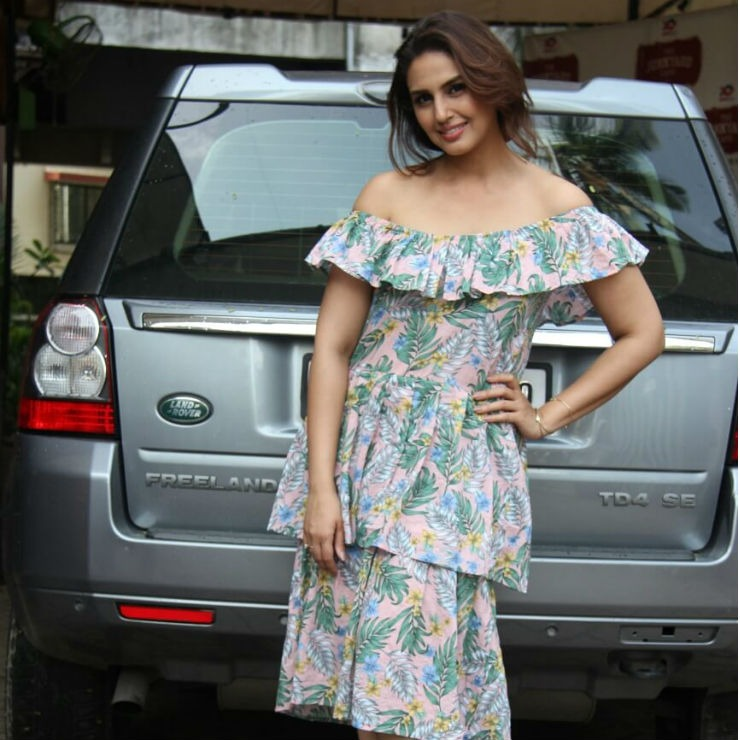 Huma Qureshi Land Rover
