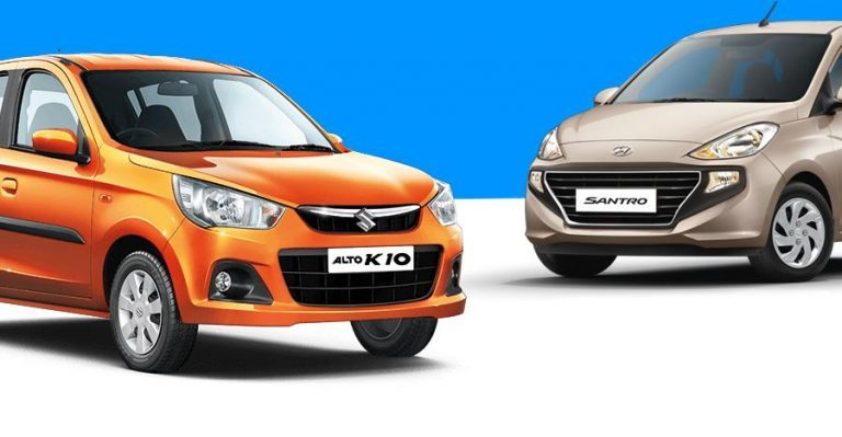Maruti Alto Hyundai Santro Sales Featured 768x399
