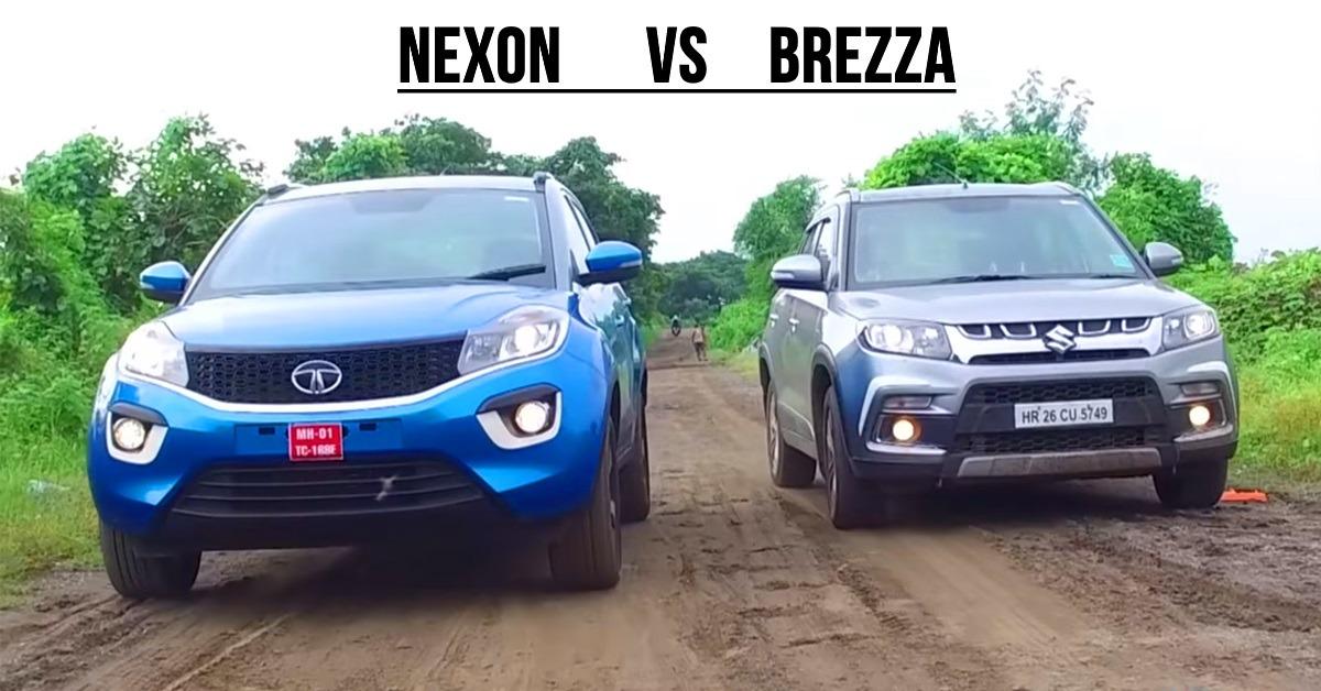 देखिये Maruti Vitara Brezza और Tata Nexon के बीच ड्रैग रेस में कौन है विजेता?