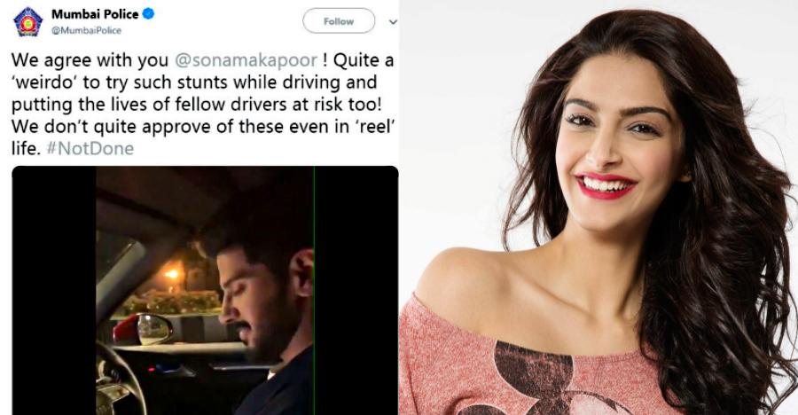 मुंबई पुलिस ने Dulquer Salman का उड़ाया मज़ाक: Sonam Kapoor आईं बचाव में!