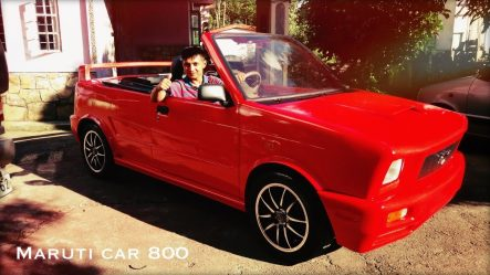 Modified Maruti 800 Convertible Featured