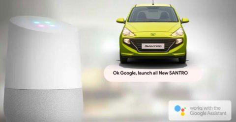 Hyundai Santro Google Assistant Featured