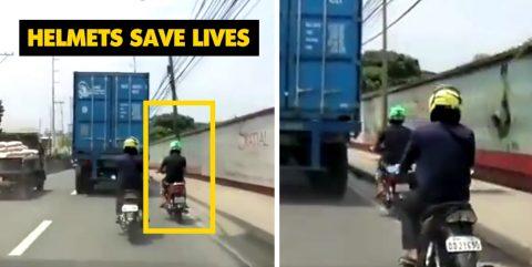 हेल्मेट आपकी ज़िन्दगी बचाता है, ये विडियो है सुबूत!