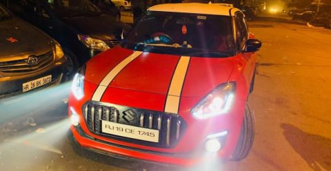Maruti Swift Rolls Royce Roof Featured