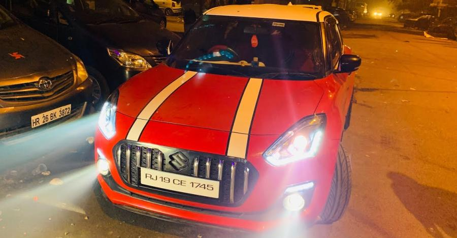 Maruti Swift Rolls Royce Roof Featured