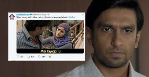 मुंबई पुलिस ने Ranveer Singh के Gully Boy के ट्रेलर के ज़रिये दी ये सीख…