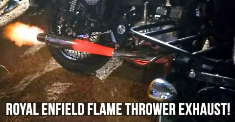 Royal Enfield Flame Thrower Exhaust Featured
