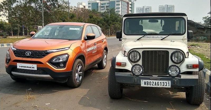 Tata Harrier Mahindra Thar Featured